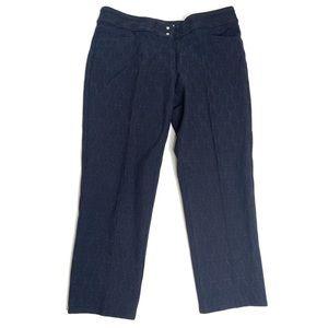 Adidas Women's Blue Brocade Golf Pants